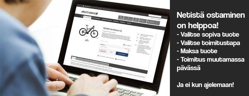 Sähköpyörän ostaminen netistä